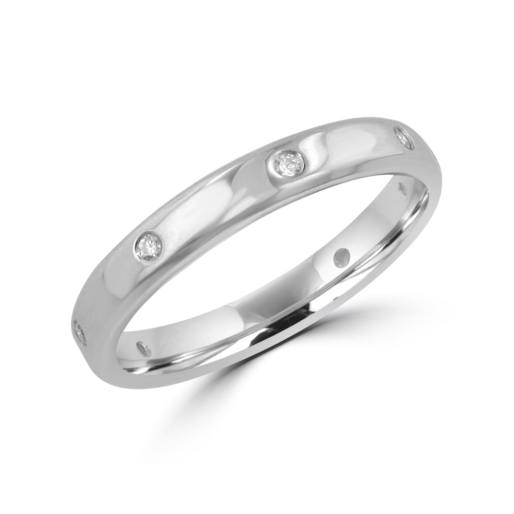 18ct White Gold BN Diamond Wedding Ring Special Offer