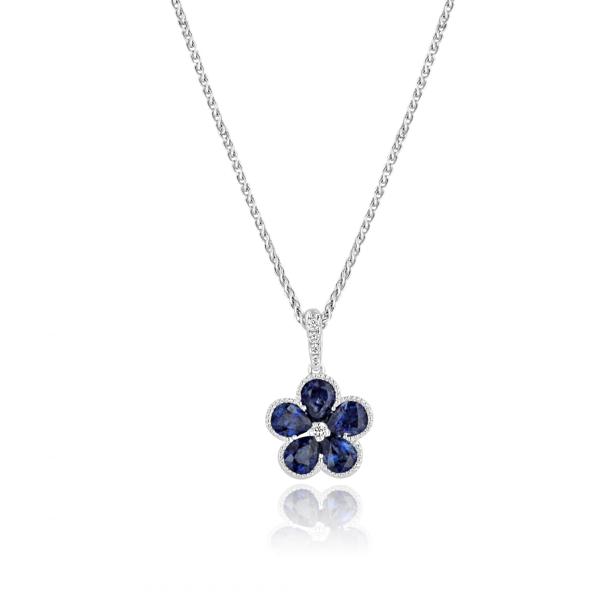 cross a graff shape necklaces diamond pearshape pear over collections necklace crossover and sapphire detail classic