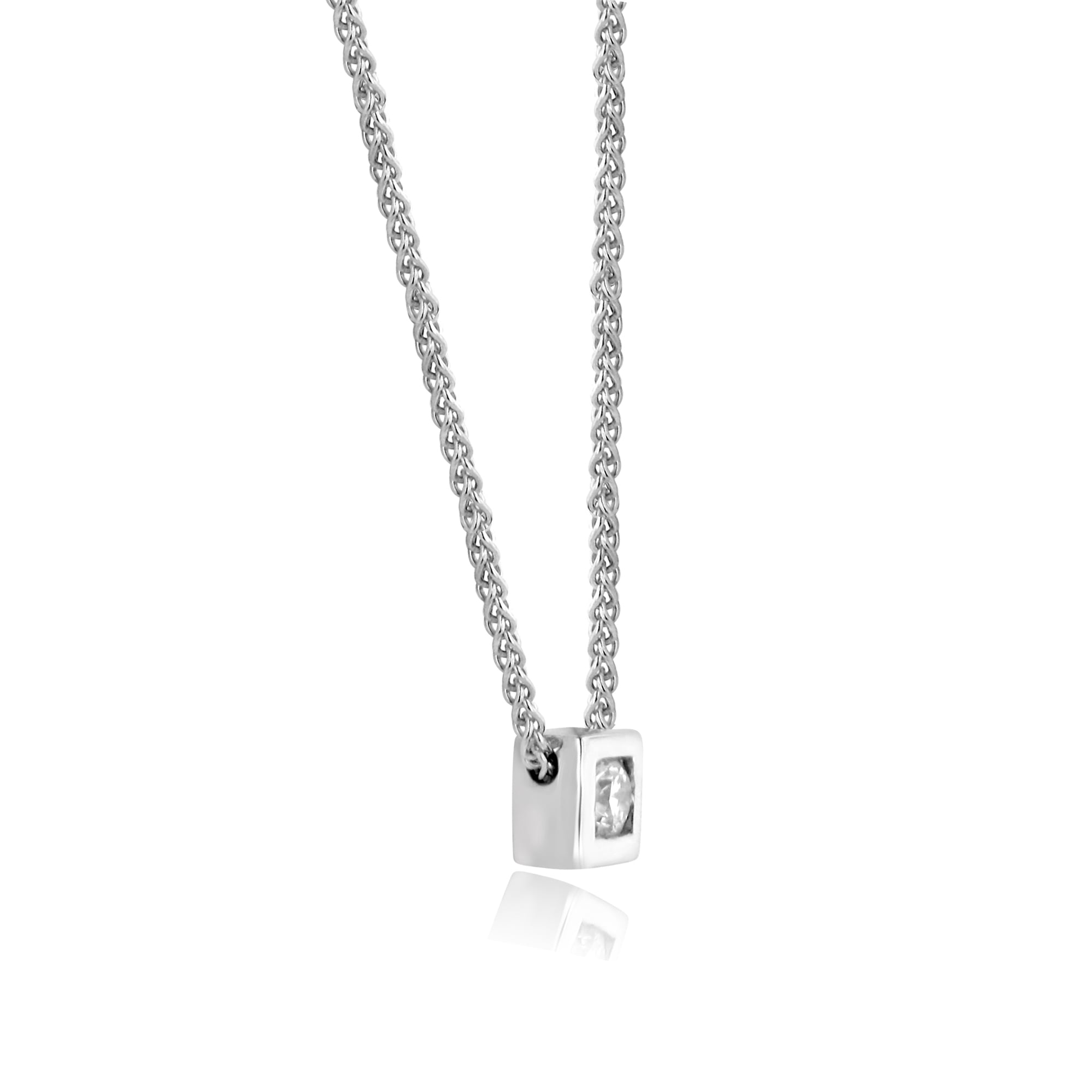 b2758e850af8d8 18ct White Gold Diamond Slider Necklace - Womens from Avanti of ...