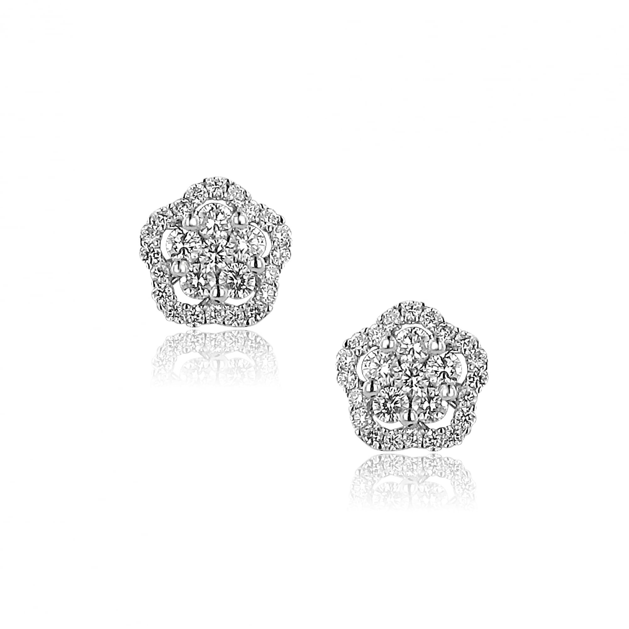 in earrings forevermark my tw diamond universe halo white of gold center