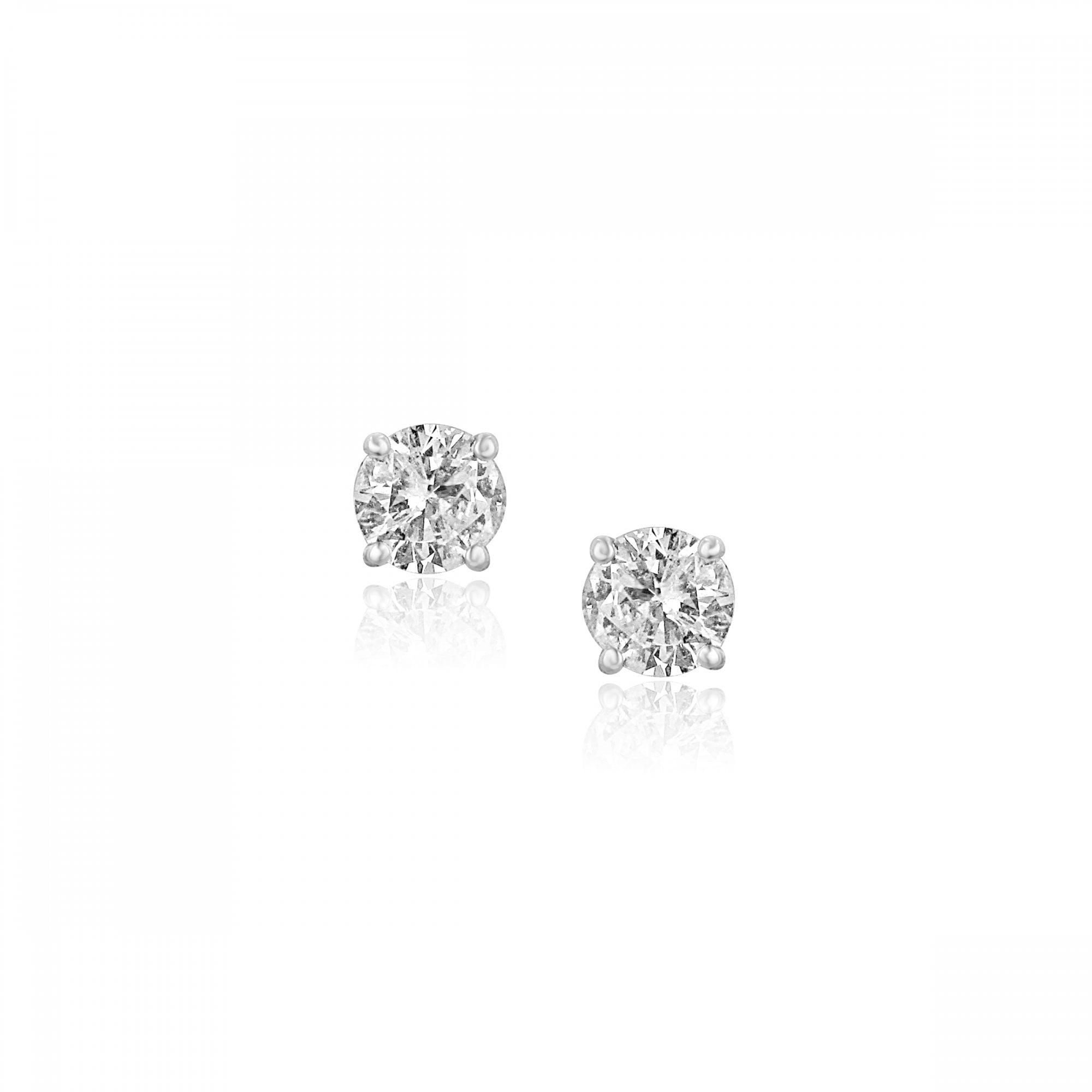 18ct White Gold One Carat Diamond Earrings - Womens from Avanti of  Ashbourne Ltd UK 38f318e59