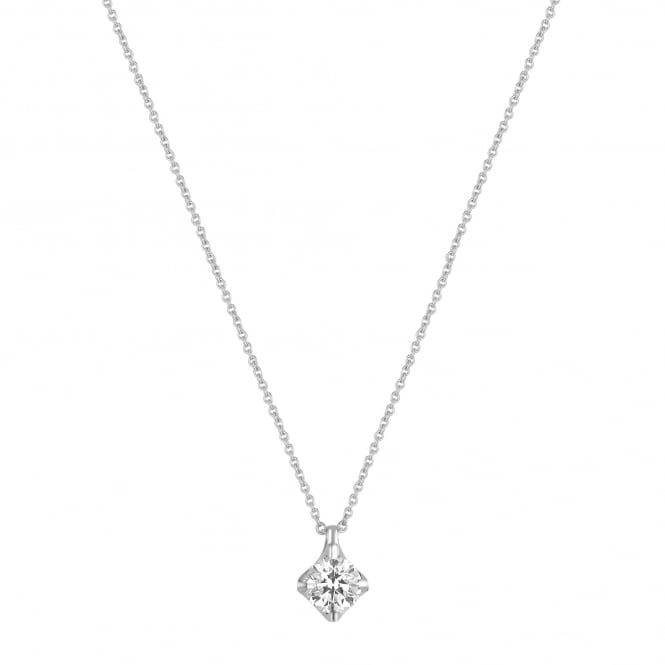 18ct White Gold One Carat Diamond Necklace