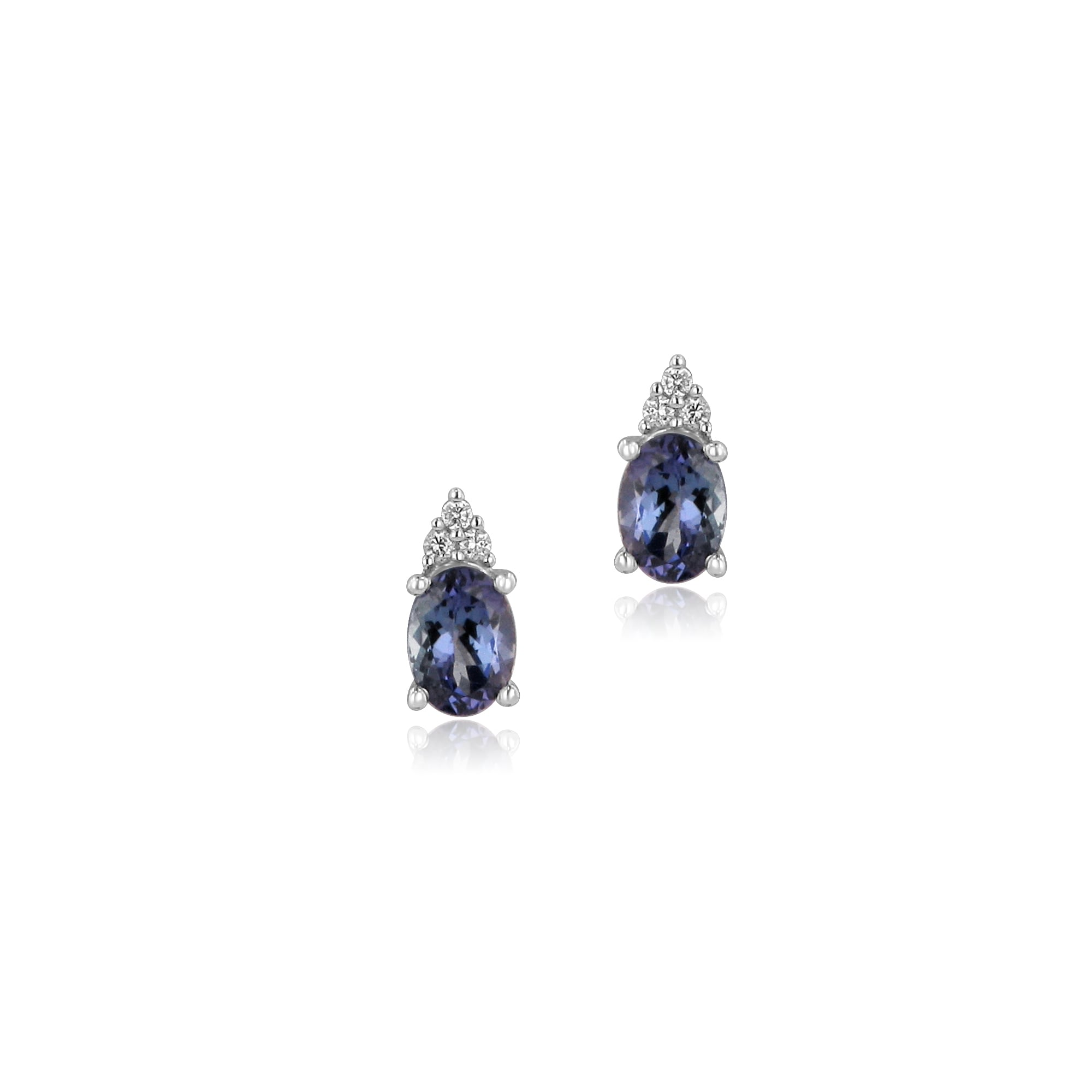 karimi ear trillion editdec earrings shahla gold products birthstone tanzanite with jacket img