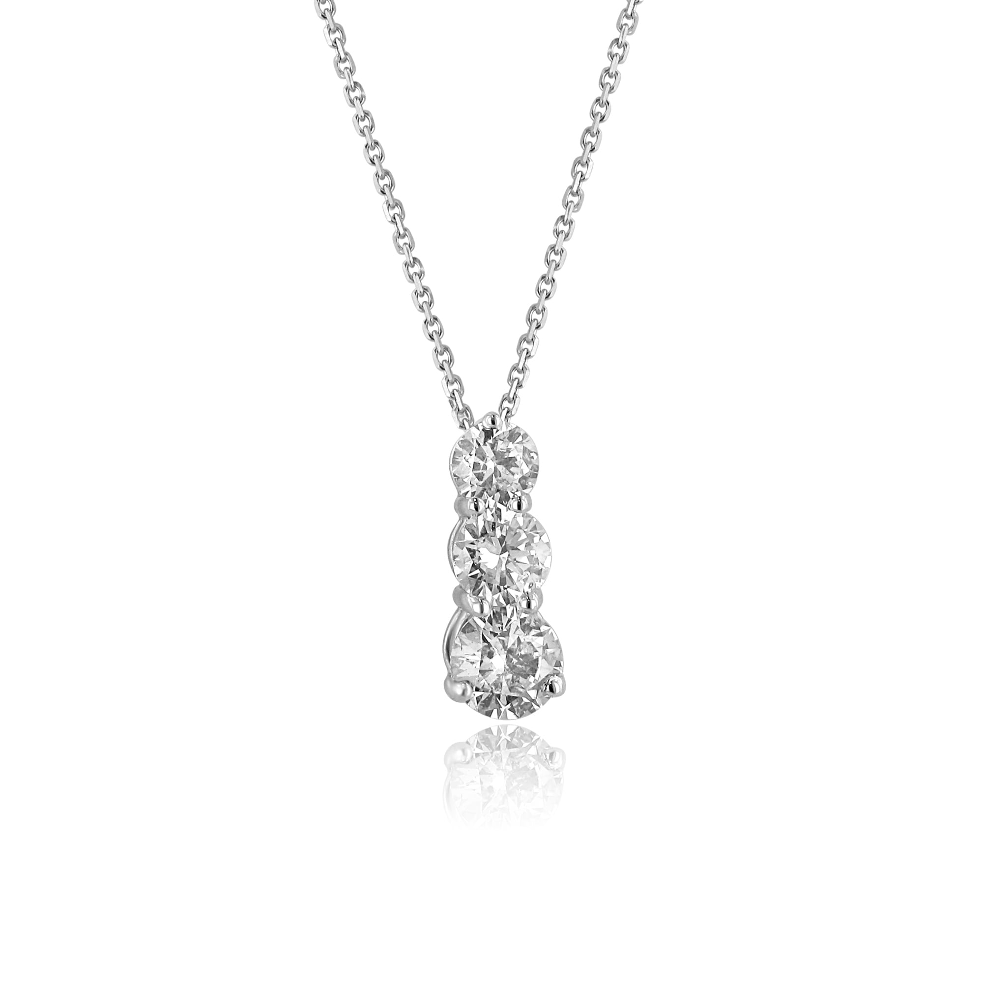 18ct white gold round diamond one carat trilogy necklace dw3641 18ct white gold round diamond one carat trilogy necklace dw3641 audiocablefo