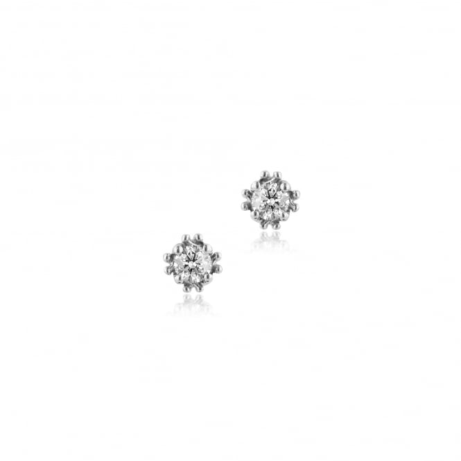 Avanti 18ct White Gold Round Diamond Stud Earrings 0.57ct Total Designed by EWT36156