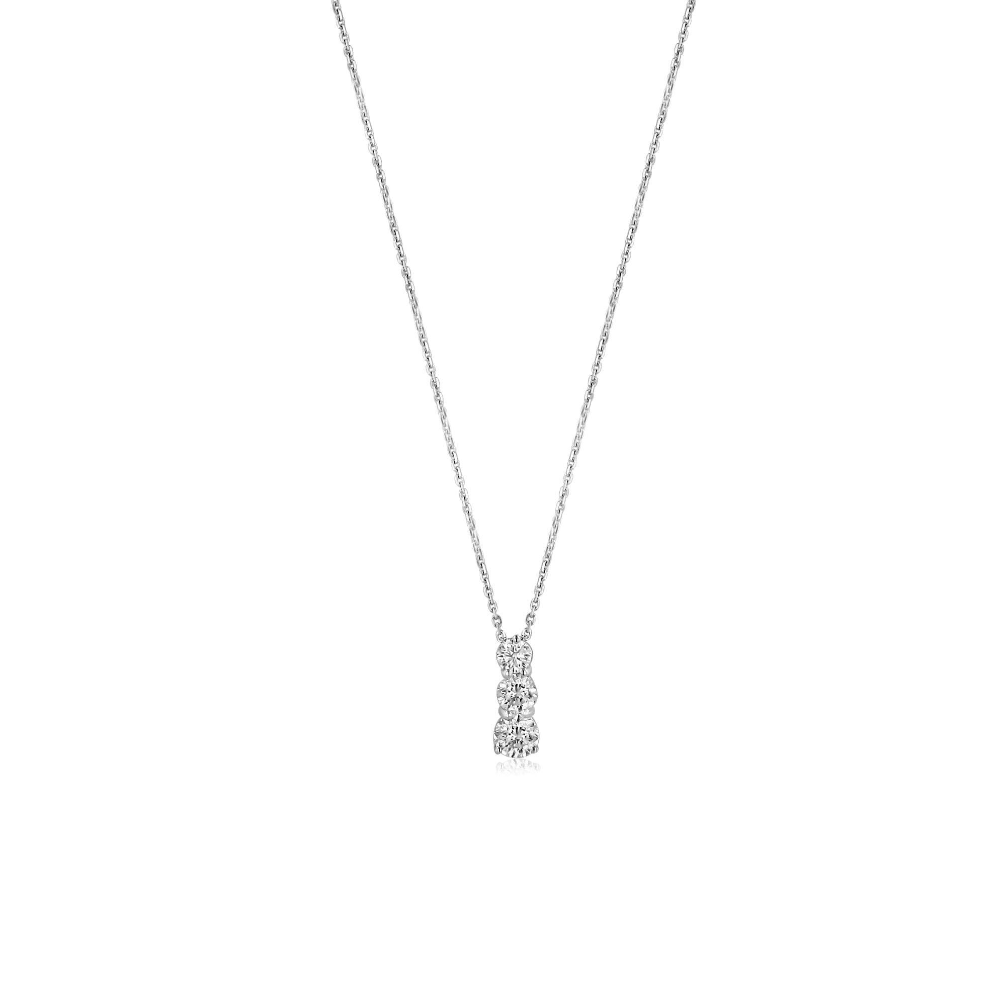 18ct white gold round diamond trilogy necklace dw3640 womens from 18ct white gold round diamond trilogy necklace dw3640 aloadofball Choice Image
