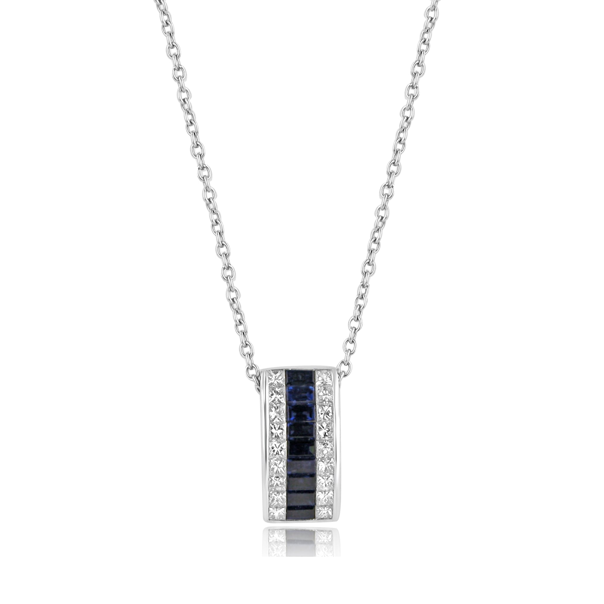 7726e7358c5f45 18ct White Sapphire and Diamond Slider Necklace - Womens from Avanti of  Ashbourne Ltd UK