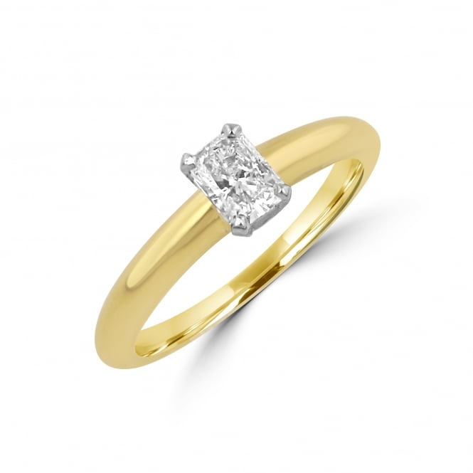 18ct Yellow Gold 0.35ct Inferno Cut Diamond Engagement Ring