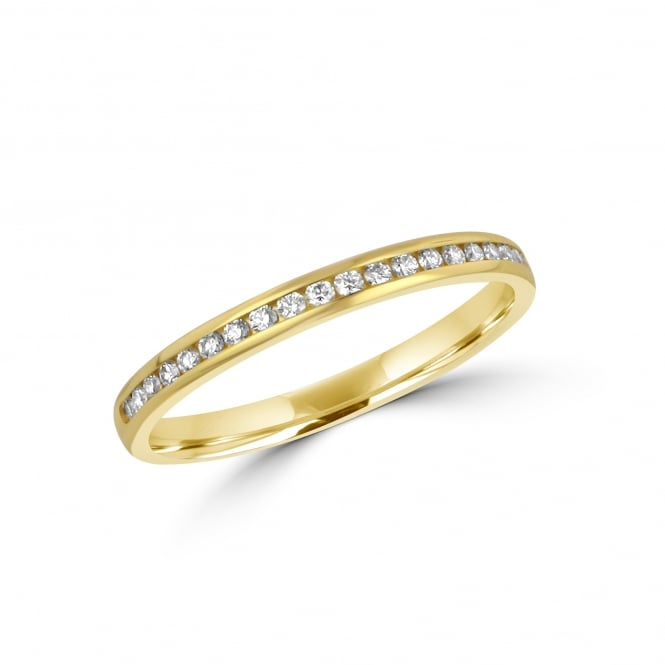 18ct Yellow Gold 2.2mm Diamond Wedding Ring