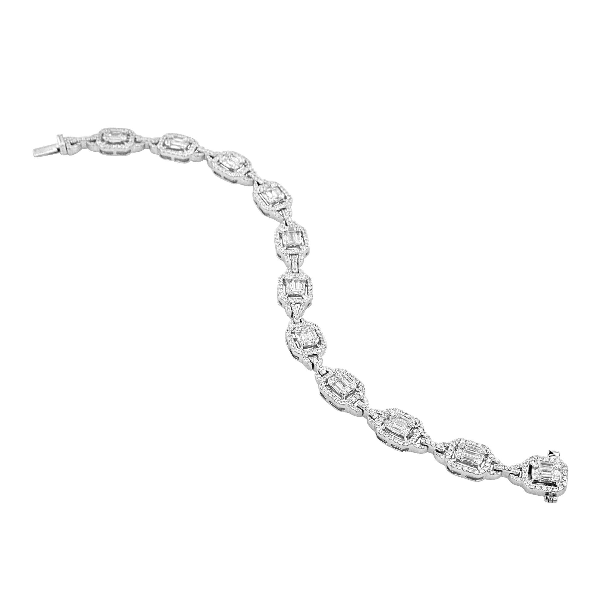 aed4efd9b 3.26ct Vintage Inspired Diamond Bracelet - Womens from Avanti of Ashbourne  Ltd UK