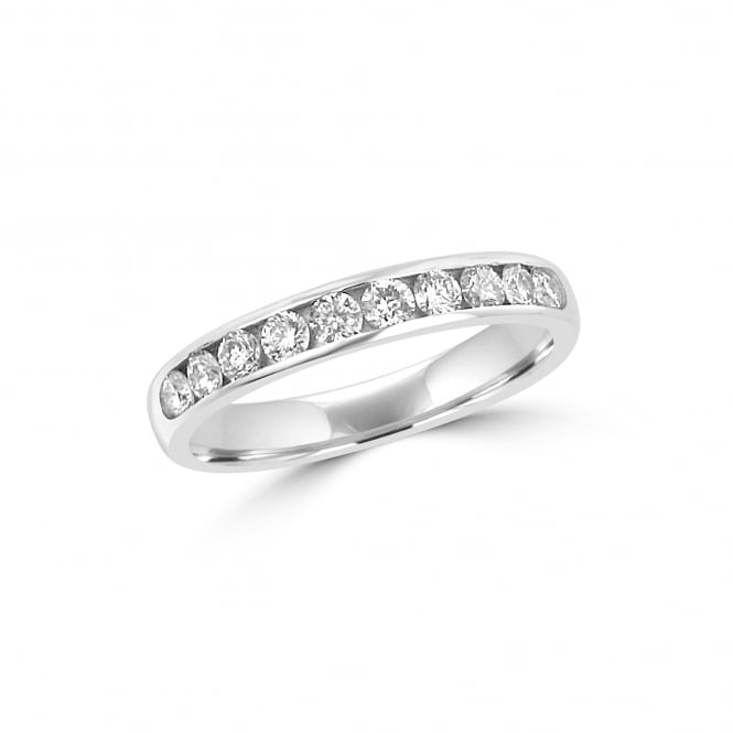 3.5mm Court Round Diamond Platinum Wedding Ring