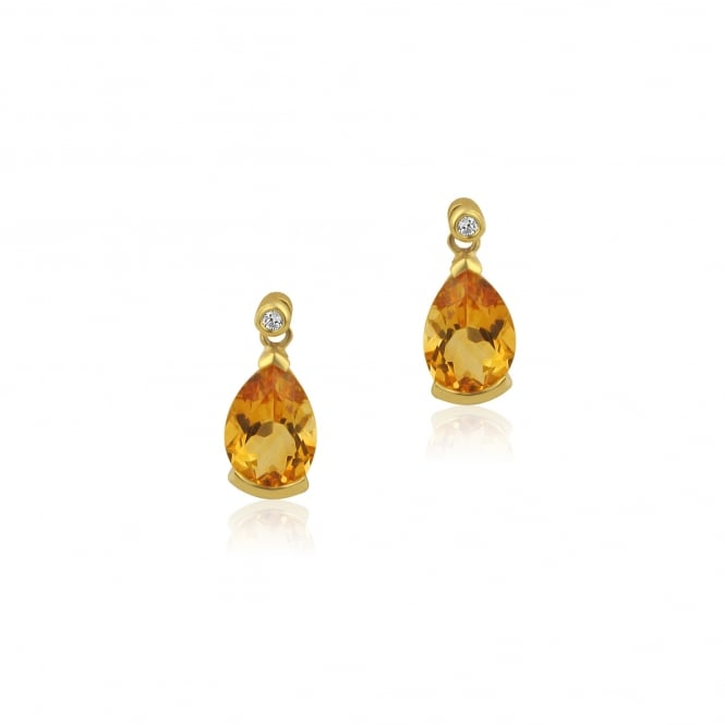 3.65ct Citrine and Diamond Earrings
