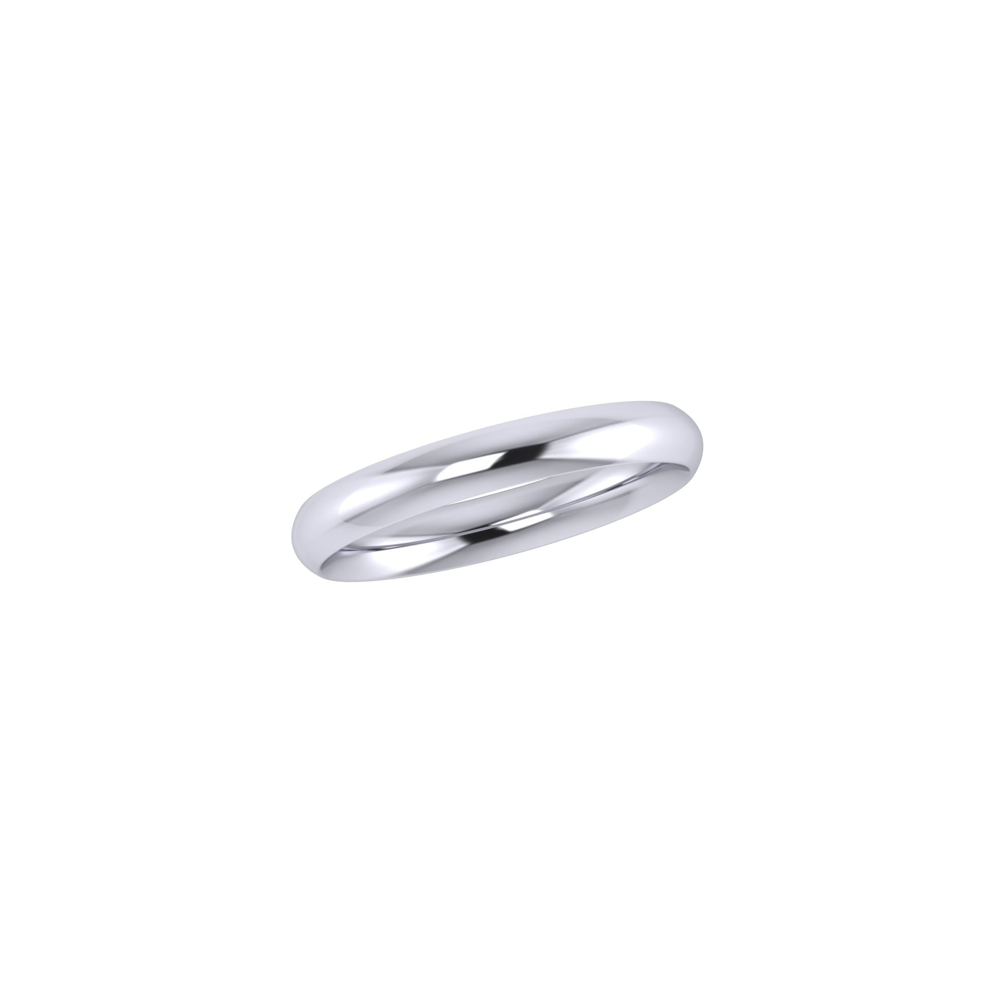 3mm Platinum Traditional Court Wedding Ring Womens from Avanti