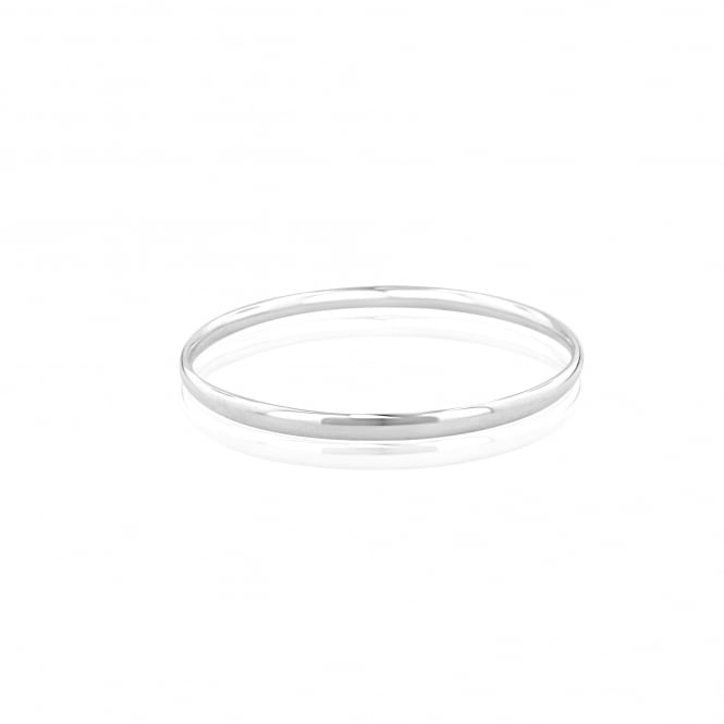 4.5mm Wide Silver Polished Solid Bangle LS3616