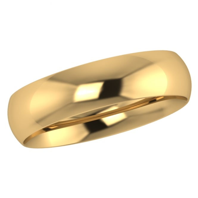 5mm 18ct Yellow Gold Traditional Court Wedding Ring
