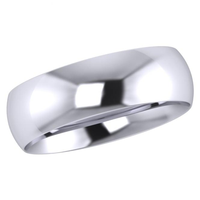 6mm Platinum Traditional Court Wedding Ring