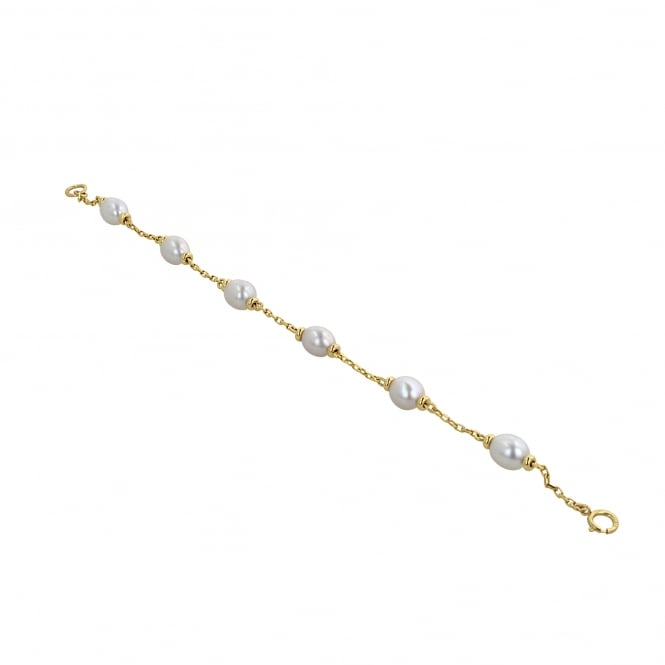 9ct Gold Chain and Pearl Bracelet