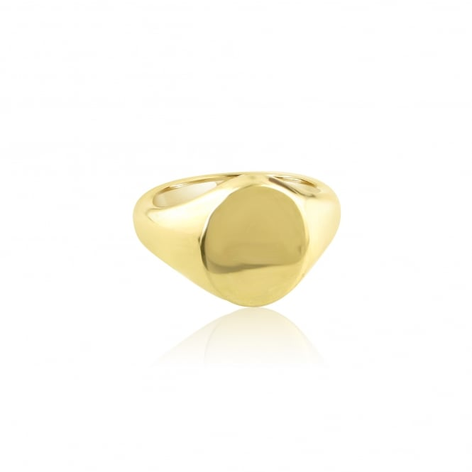 9ct Gold Signet Ring (Suitable For Seal Engraving)