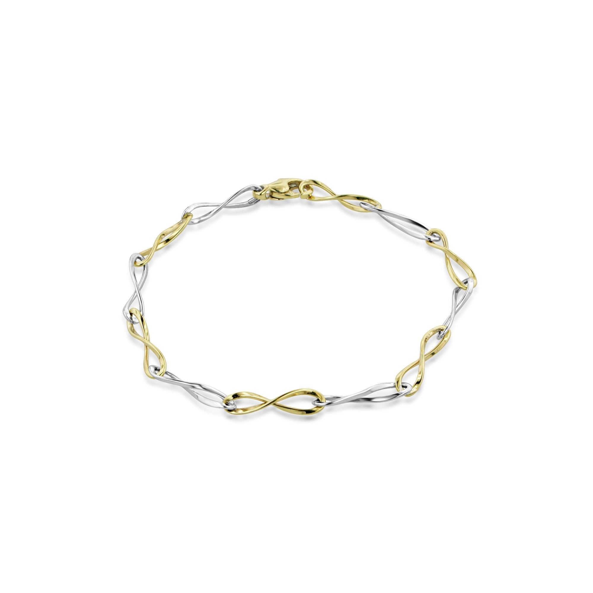 9ct Mixed Gold Twisted Link Bracelet Womens From Avanti Of