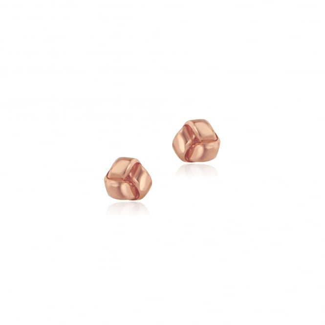 9ct Rose Gold Flat Knot Stud Earrings ERT3540