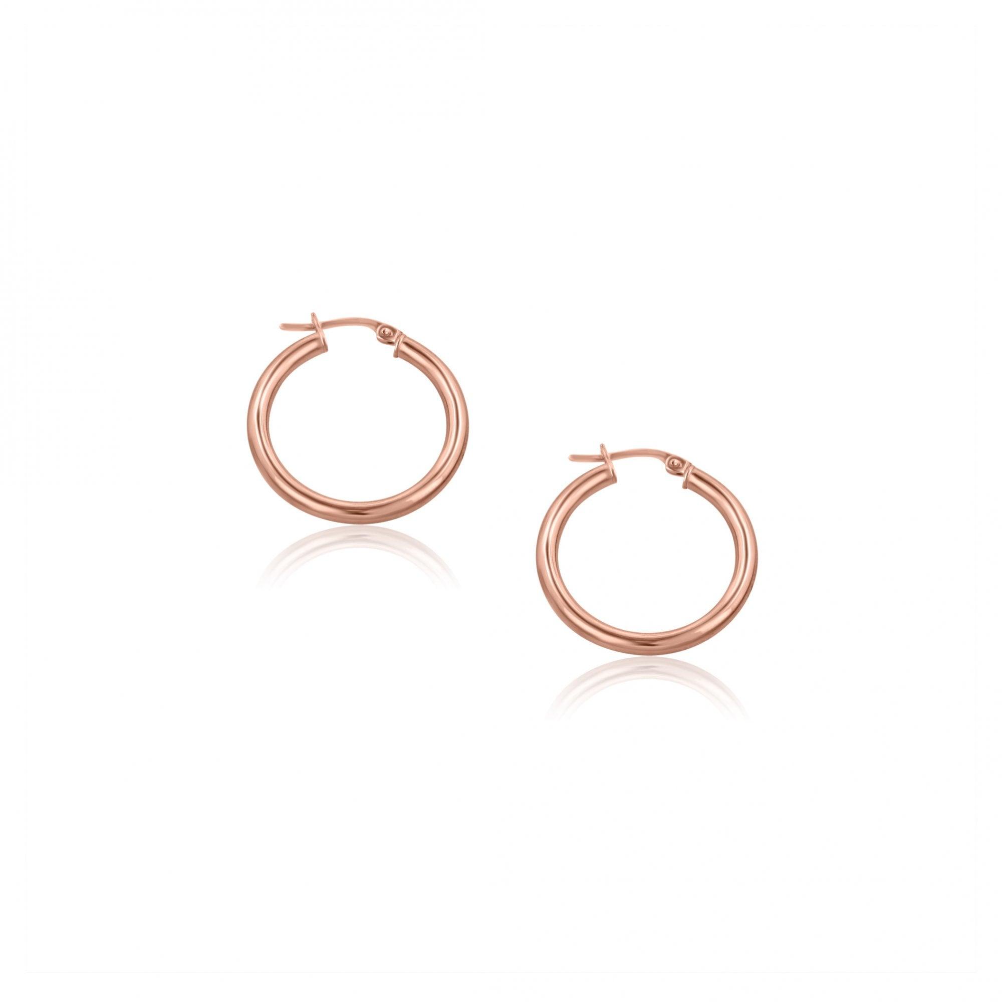 Red Gold Hoop Earrings Avanti Fine Jewellery