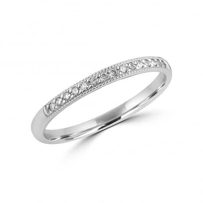 9ct White Gold 0.15ct Diamond Wedding Ring RWT35431