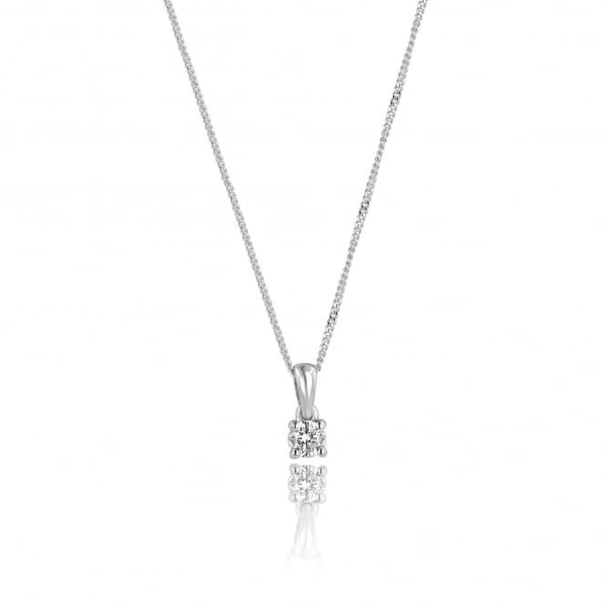 9ct White Gold 0.20ct Diamond Necklace