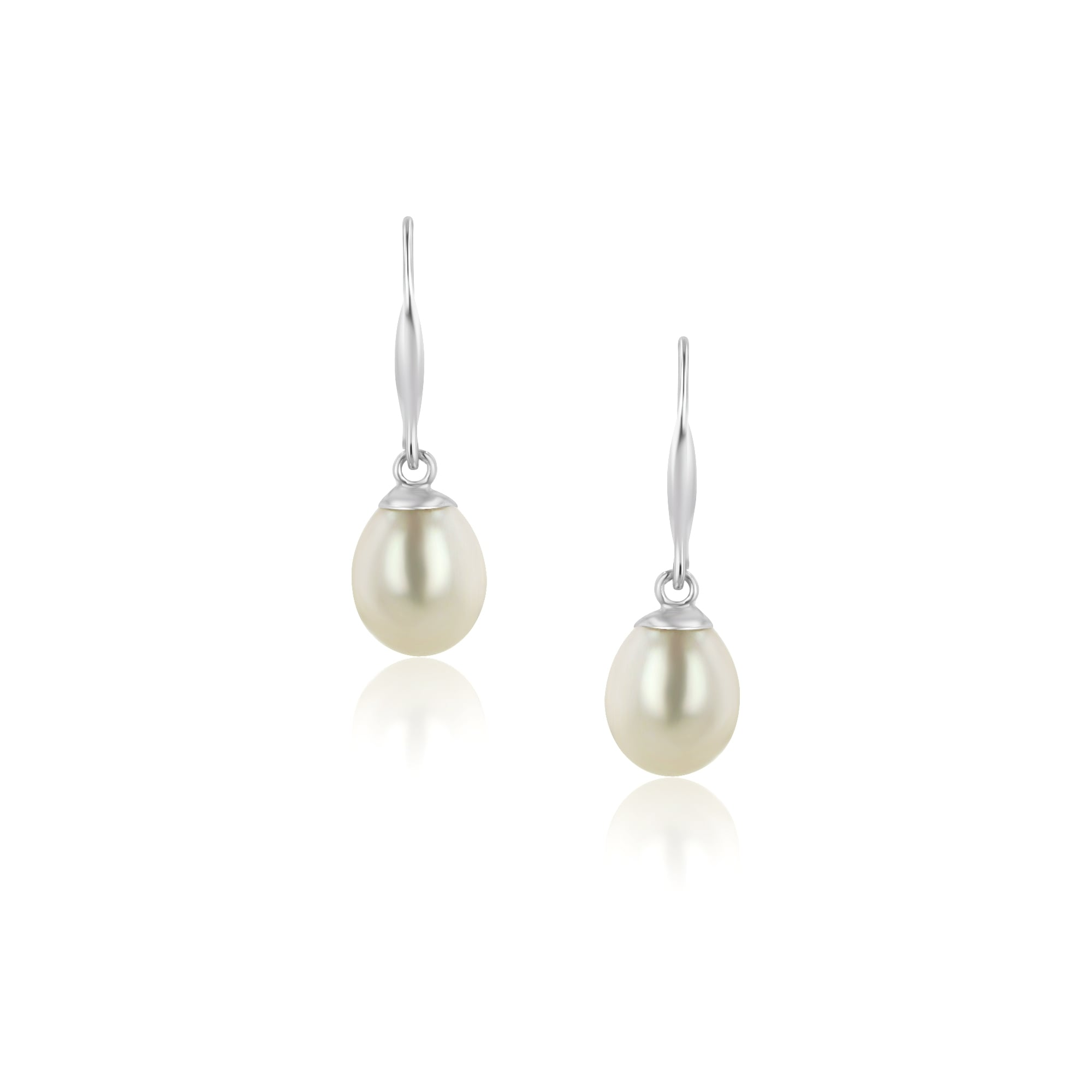 9ct Yellow Gold Freshwater Cultured Pearl Drop Earrings ChhiV3