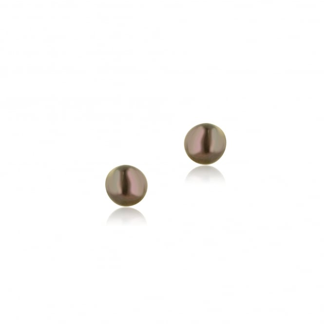 9ct Yellow Gold 5-5.5mm Black Pearl Stud Earrings EYT28211 br