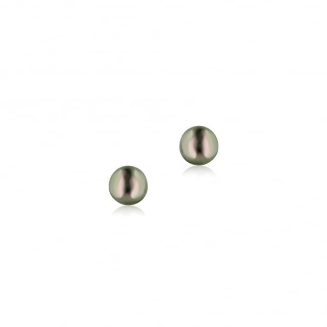 9ct Yellow Gold 5-5.5mm Black Pearl Stud Earrings EYT28211