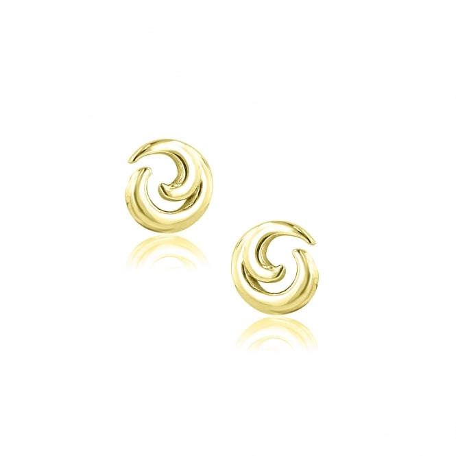 Avanti 9ct Yellow Gold Designed Stud Earrings EYT36278