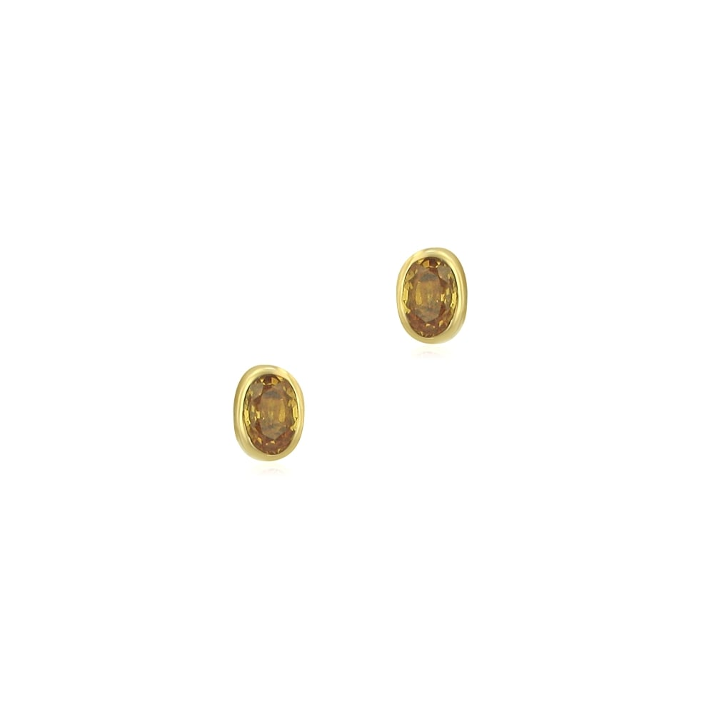 round yellow sapphire basement rd y wall gold ct earrings stud s studs wrc