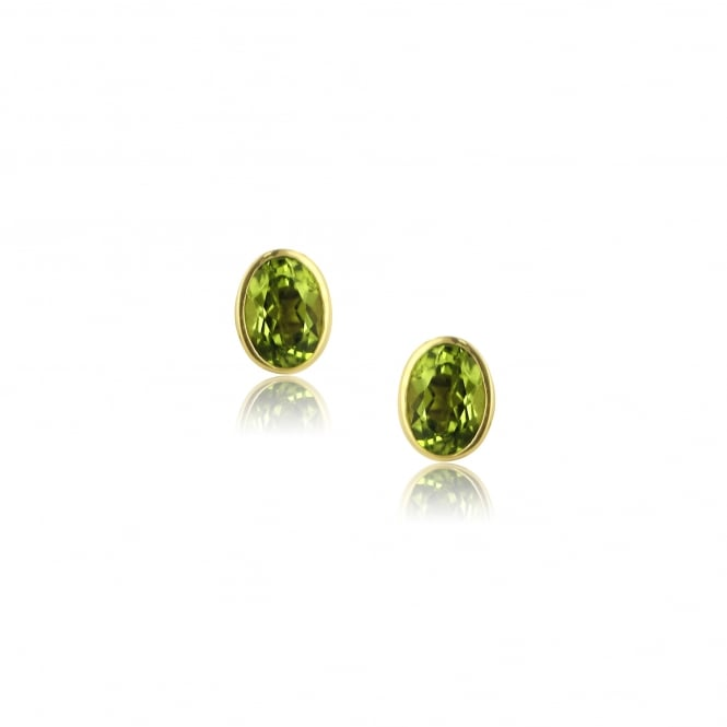 9ct Yellow Gold Peridot Stud Earrings EYT36222