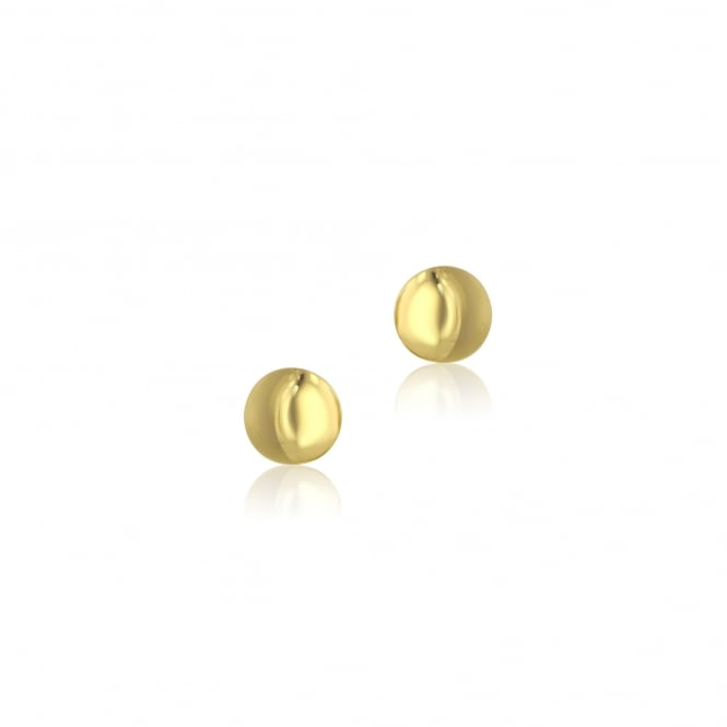 9ct Yellow Gold Round Button Stud Earrings EYT34218