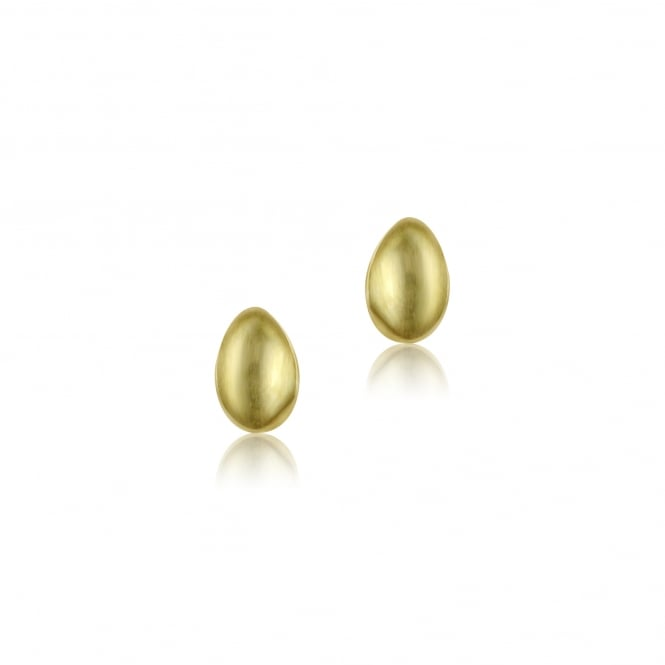 9ct Yellow Gold Satin Stud Earrings