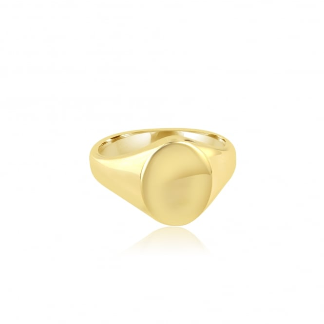 9ct Yellow Gold Signet Ring (Suitable For Engraving)