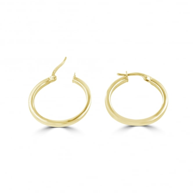 9ct Yellow Gold Square Section Round Hoops EYS3696