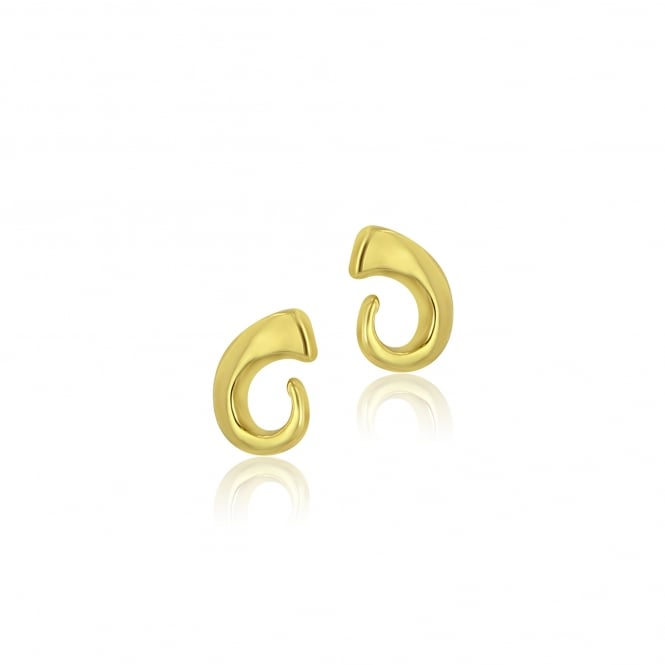 9ct Yellow Gold Swirl Stud Earrings EYT36106