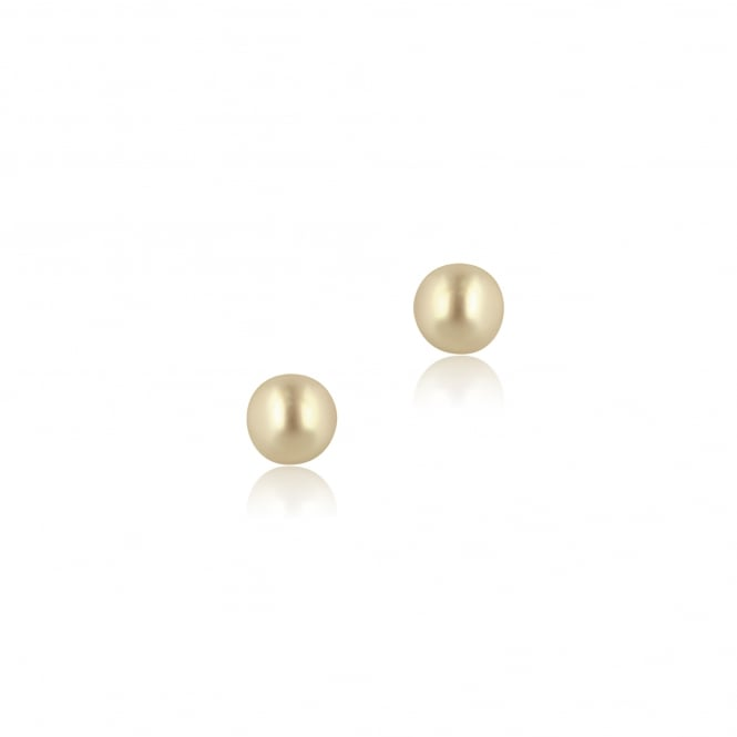 9ct Yellow Gold White Cultured Pearl Stud Earrings EYT2868
