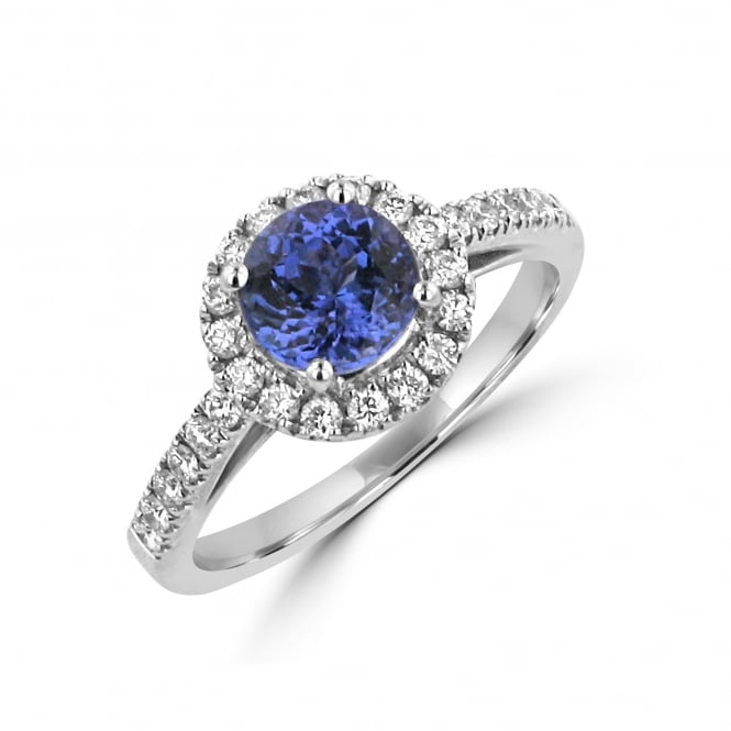 A Round 1.23ct Tanzanite and Diamond Cluster Ring RWD31203