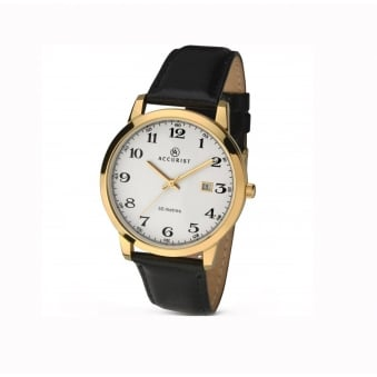 3e27d43d8 Gold Plate Accurist Watch For Men on Leather Strap 7027