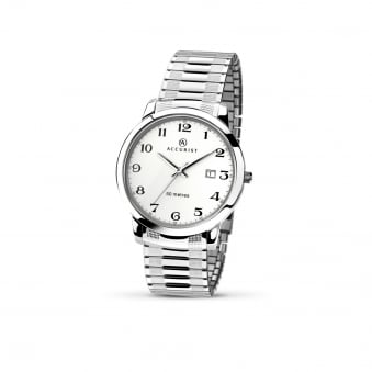 eb8e1e2f7 Mens Steel Accurist Watch With Expanding Strap 7080