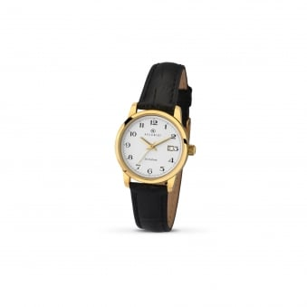 a1ec0b25c Womens Accurist Gold plated Watch on Leather Strap 8093