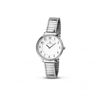 6085d7bdc Womens Clear Face Accurist Steel Watch on Expander Strap 8138