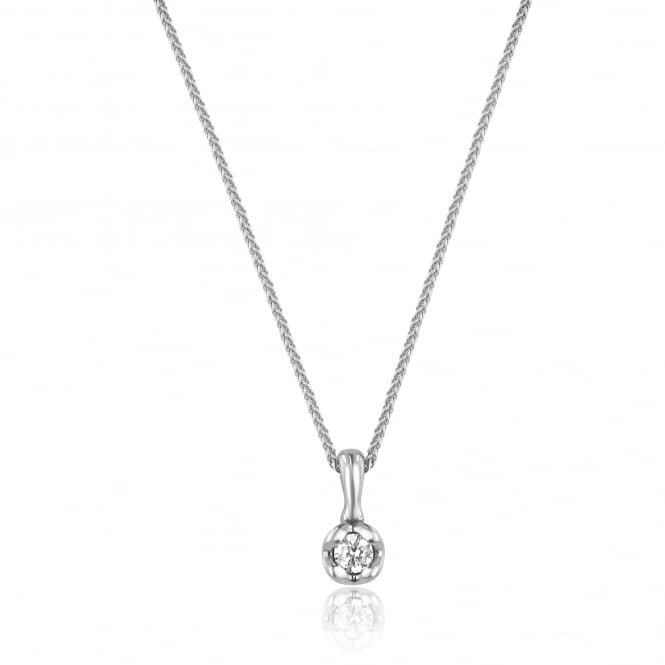 Avanti 0.23ct Round Diamond 9ct White Gold Necklace PW31103 + CW3066