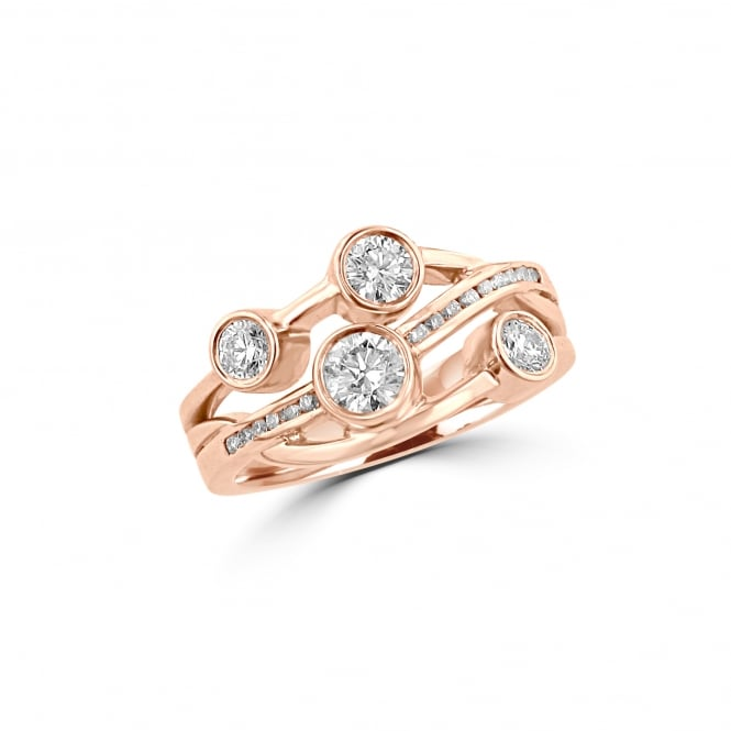 Avanti 0.73ct Cascata Diamond Bubble Ring in 18ct Rose Gold RRD36428 RBC