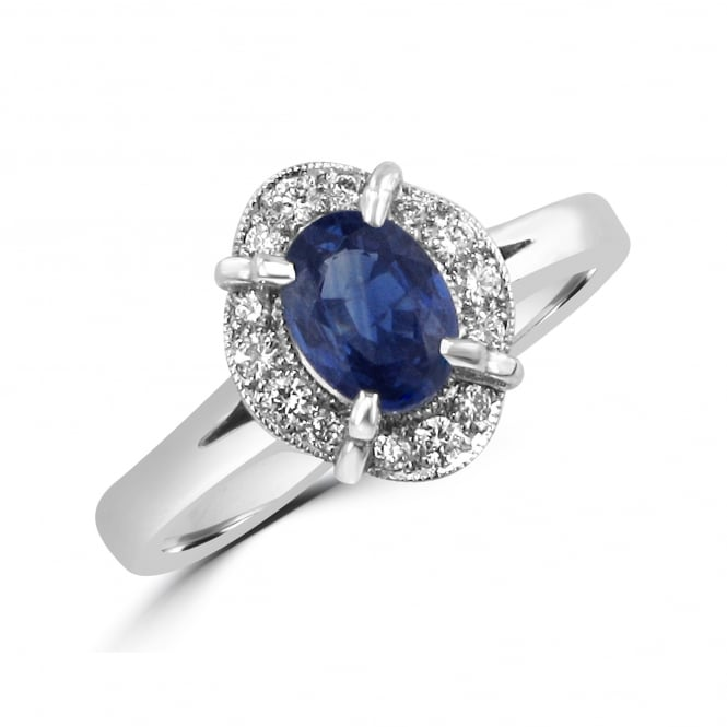 Avanti 0.77ct Oval Sapphire and Diamond Cluster Ring RWD3342