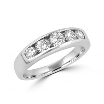 0.84ct Five Stone Diamond Eternity Ring RWT32256