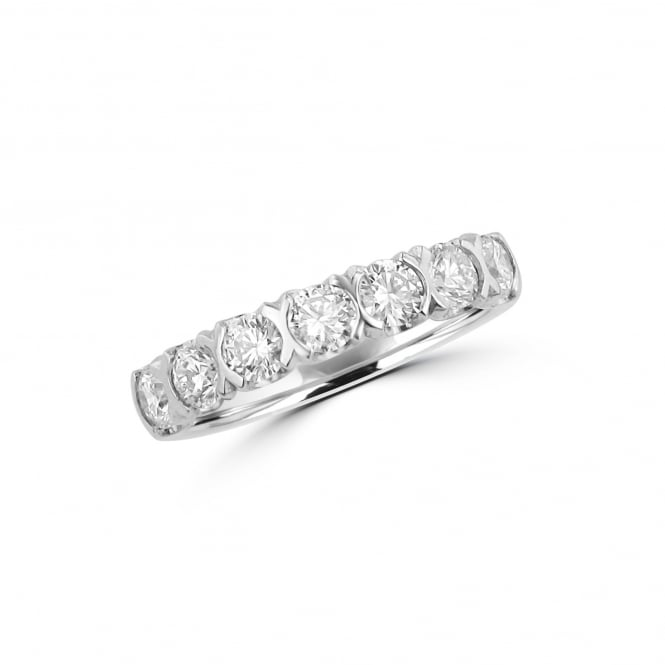 Avanti 1.01ct Round Diamond Platinum Eternity Ring RPT36427