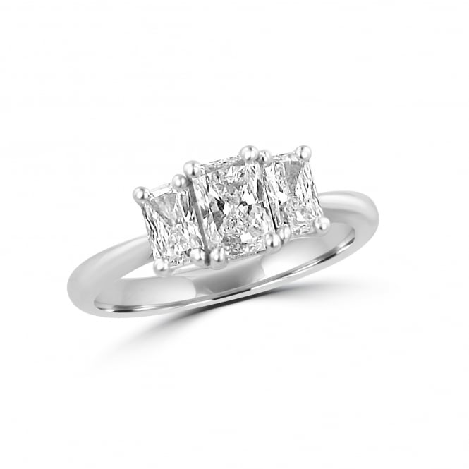 Avanti 1.19ct Platinum Three Stone Radiant Cut Diamond Ring